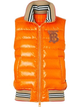 Burberry - Icon Stripe Detail Down-filled Puffer Gilet - Women