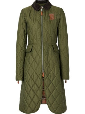 Burberry - Monogram Motif Quilted Riding Coat - Long