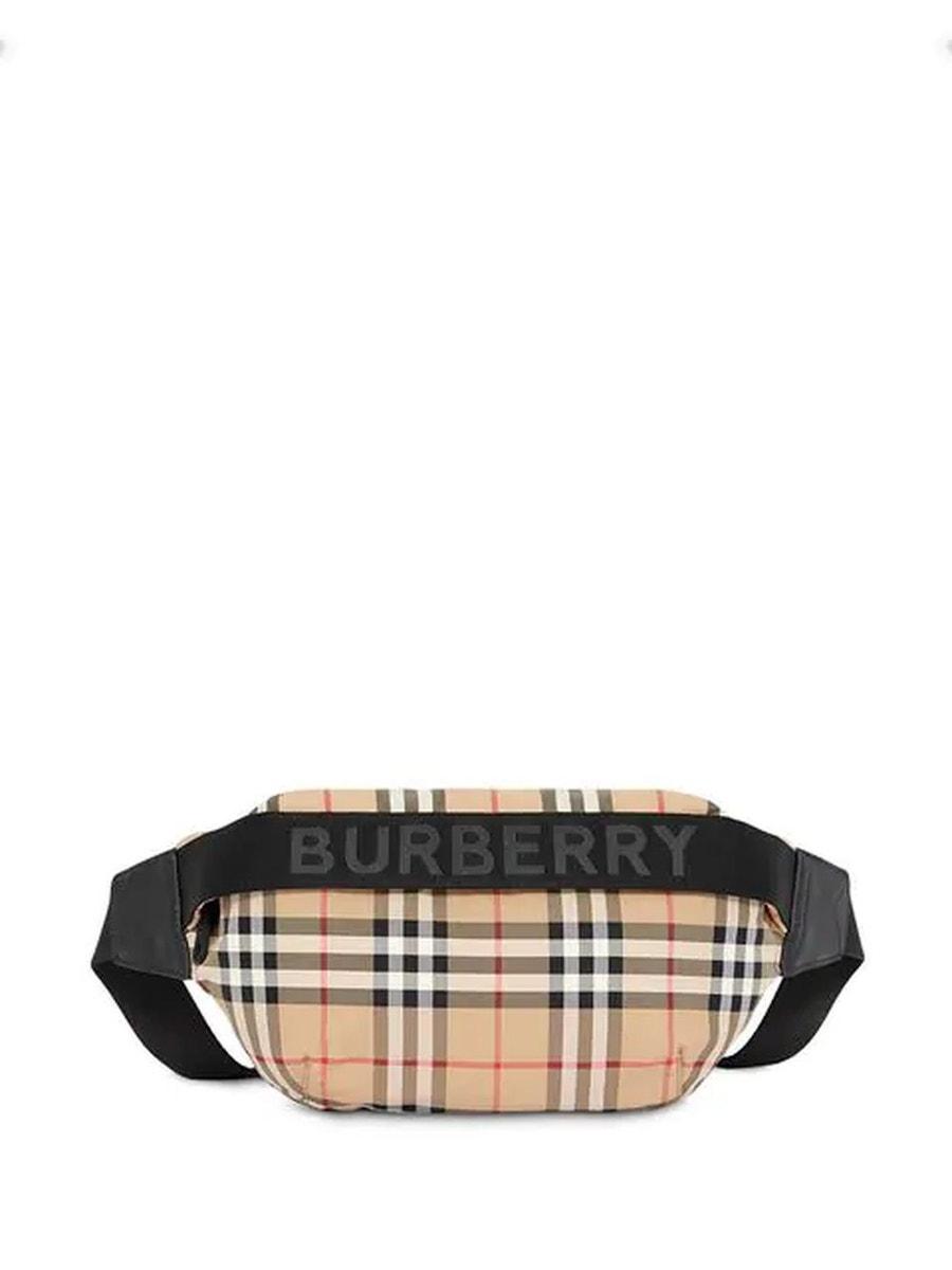 Burberry Bags medium vintage check and icon stripe bum bag neutral