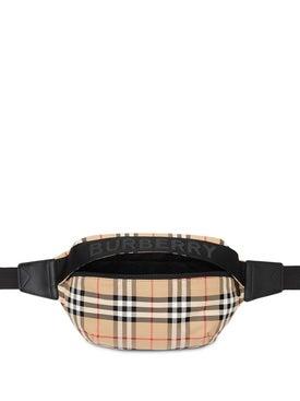 Burberry - Medium Vintage Check And Icon Stripe Bum Bag Neutral - Belt Bags