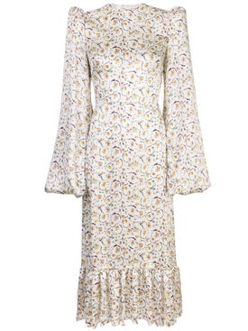 The Vampire's Wife - Floral Print Belle Midi Dress - Women