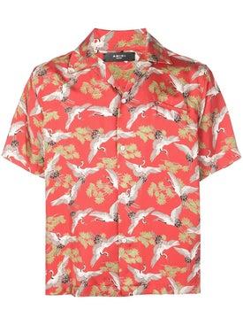 Amiri - Crane Short Sleeves Shirt Red - Men