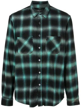 Amiri - Tie Dye Checked Shirt Black Green - Men