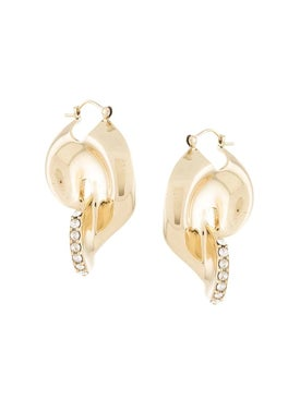 Ellery - Locke Pave Liquid Earrings - Earrings