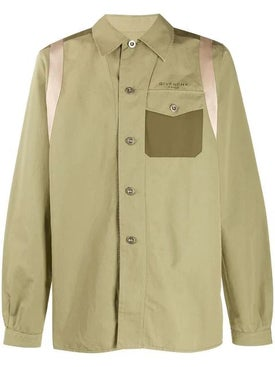 Givenchy - Panelled Button-up Shirt - Men