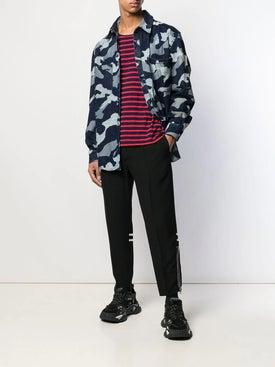 Valentino - Camouflage Print Shirt Blue - Denim
