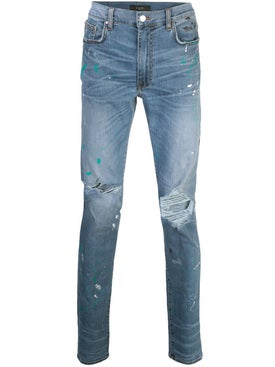 Amiri - Paint Splatter Distressed Jeans Indigo - Men