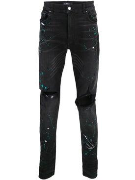 Amiri - Paint Splatter Distressed Jeans Black - Men