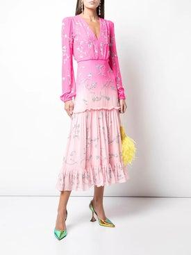 Saloni - Devon Floral Dress - Mid-length