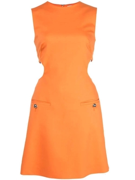 cut out detail dress ORANGE