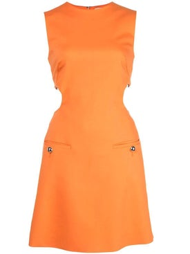 Sara Battaglia - Cut Out Detail Dress Orange - Women