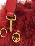 Fendi - Red Fur Mini Mon Tresor Bucket Bag - Women