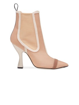Fendi - Nude Colibrì Ankle Boots - High Boots