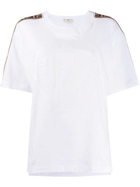 Fendi - Ff Monogram Shoulder Stripe T-shirt - Women
