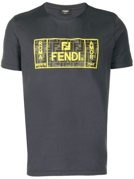 Fendi - Roma/amor Print T-shirt Grey - Men