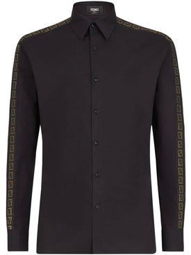 Fendi - Logo Stripes Shirt Black - Men