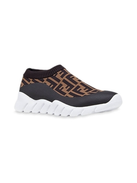 FF monogram tech fabric low-top sneakers