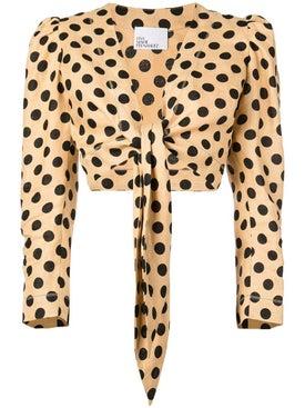 Lisa Marie Fernandez - Polka Dot Crop Top - Long Sleeved