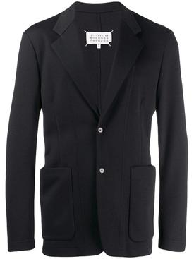 cotton scuba blazer BLACK