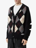 Burberry - Sleeve Cut-out Cashmere Cardigan - Men
