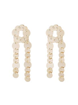 Eddie Borgo - Crisscross Pinned Paillette Earrings - Women