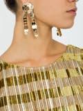 Eddie Borgo - Crisscross Pinned Paillette Earrings - Women