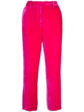 Willa fluid corduroy trousers FUCHSIA