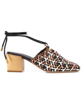 Salvatore Ferragamo - Interwoven Laino Mule Heel Multicolor - Women