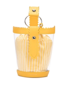 clear bucket bag YELLOW