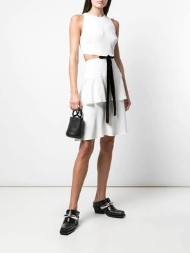 White cut-out bow dress