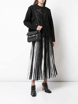 Foil pleated maxi skirt