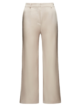 Ivory silk flared pants
