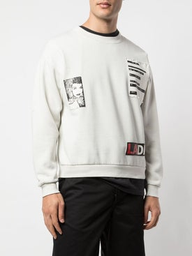 Luv Collections - Patch Pullover Sweatshirt White - Men