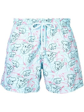 Vilebrequin - Koala Pattern Swim Shorts Blue - Beachwear