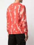 Luv Collections - Long  Sleeve Tie Dye T-shirt Red - Men