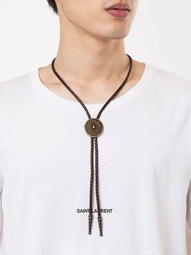 Saint Laurent - Concho Bolo Tie Necklace Brown - Necklaces
