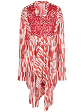 J.w. Anderson - Asymmetric Tunic Top Red - Long Sleeved