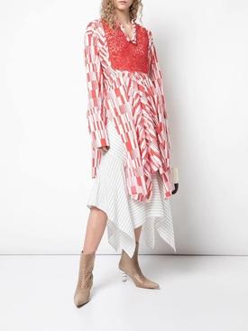 asymmetric tunic top RED