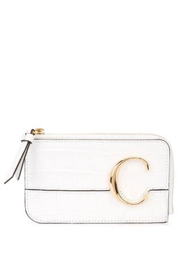 Chloé - C Zipped Wallet White - Wallets