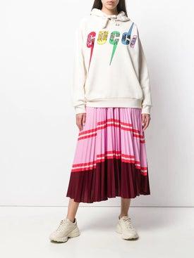 Gucci - Oversize Sweatshirt With Gucci Blade Tba - Women