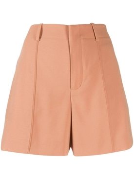 high-waisted shorts ORANGE