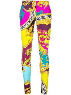 Versace - Collage Print Leggings Multicolor - Pants