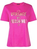 Versace - Versachee-print T-shirt Pink - T-shirts