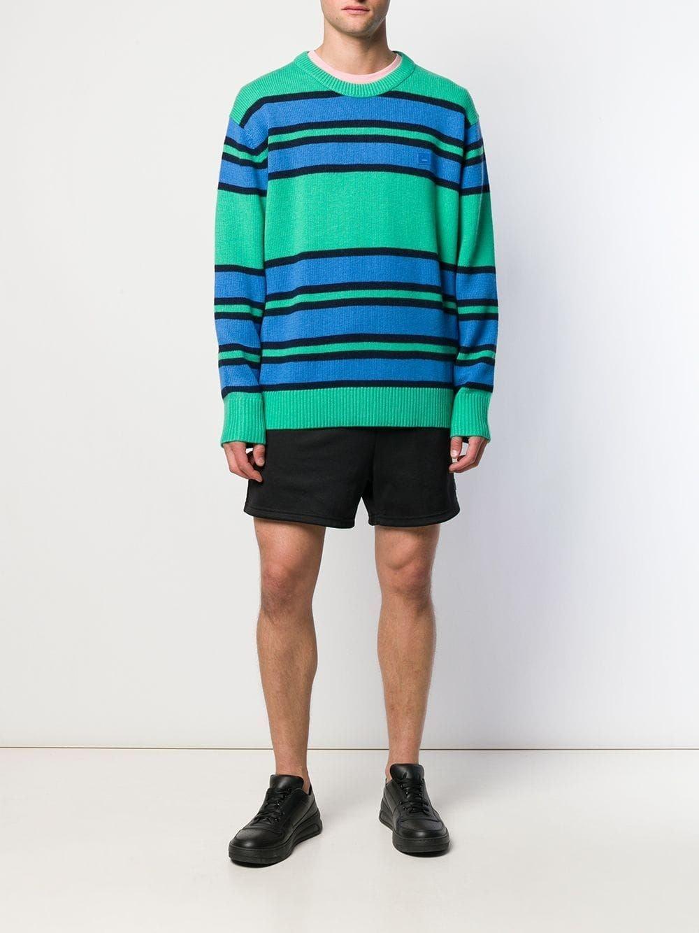 Nimah Stripe Face Patch Sweater
