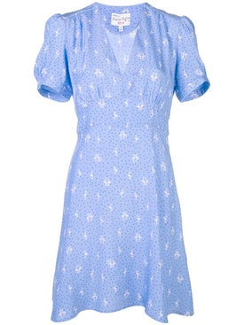 Hvn - Blue Flamingo Mini Paula Dress - Women