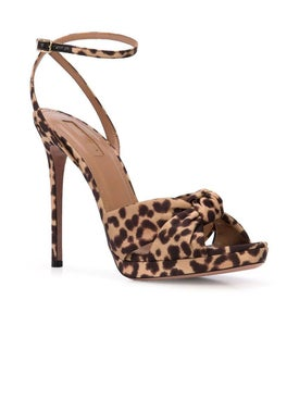 Aquazzura - Leopard Print Sandals Brown - High Sandals