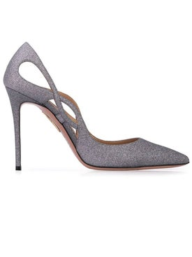 Aquazzura - Forever 105 Cut-out Detail Pumps Grey - Pumps