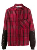 Off-white - Jersey Sleeve Flannel Shirt Red - Men