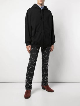 Balenciaga - Rose Zip-up Hoodie Black - Men