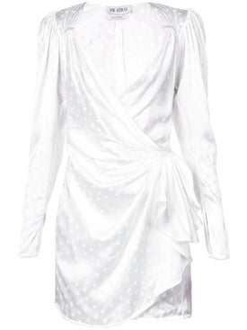 Attico - Star Print Wrap Dress White - Women